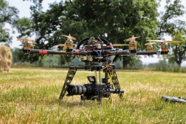 Octocopter on the ground