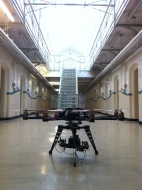 Octocopter inside kingston prison