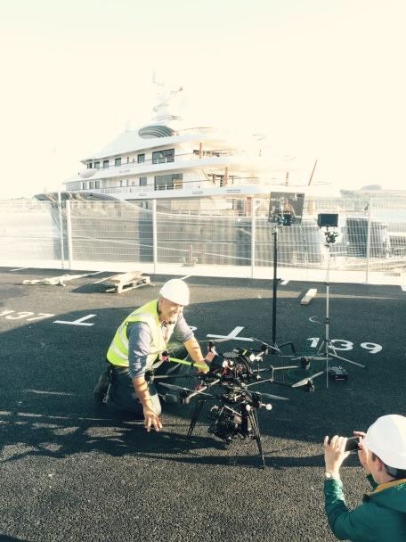 Drone, UAV, Octocopter, SUAS, Skyjib, Movi M15, Red Dragon, Pendennis, Falmouth