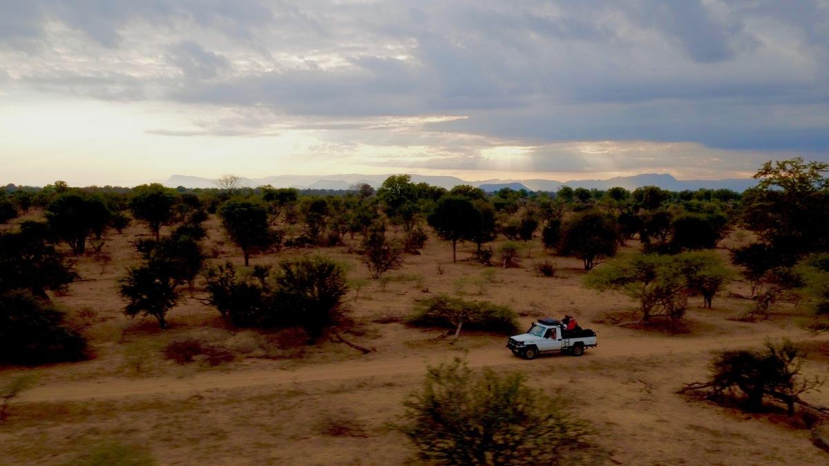 Zimbabwe, Land cruiser, DJI Inspire, Sunset, drone, photography,