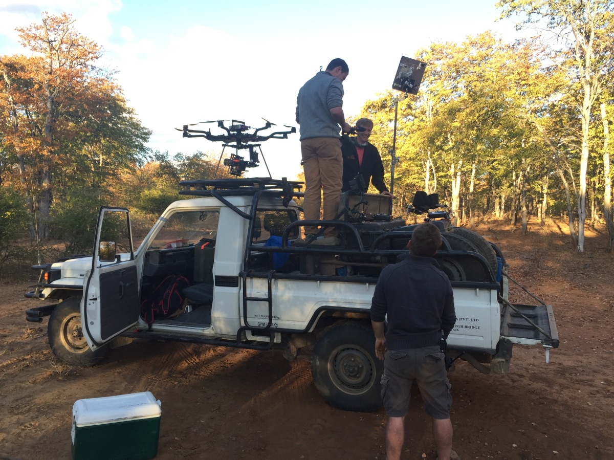 Alta 8, Land cruiser, Freefly systems, Movi M15, Red Weapon, UAV, Heavy lift, Zimbabwe, Africa, Flying Camera Company, Drone, Filming, Natural History,