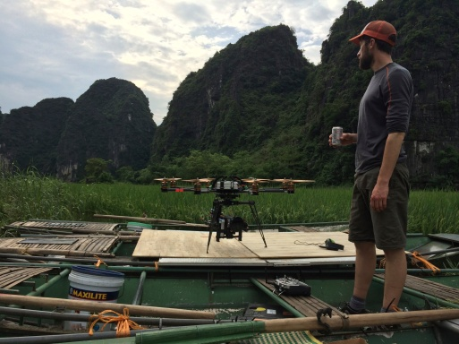 Drone, Drone Filming, Vietnam, Feature Film, Pan, Red, Flying Camera Company, Skyjib 8
