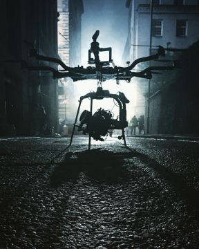 Curfew, Sky One, Drama filming, Drone, Drone Crew, Drone team, alta 8, alexa mini, manchester, drone filming, aerial cinematography, heavy lift, octocopter, multi rotor, movi pro, freefly systems, congested area, night shoot