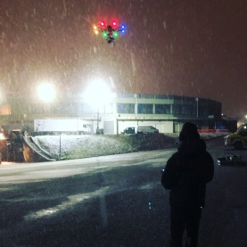 Curfew, Sky One, Drama filming, Drone, Drone Crew, Drone team, alta 8, alexa mini, manchester, drone filming, aerial cinematography, heavy lift, octocopter, multi rotor, movi pro, freefly systems, congested area, night shoot, snow