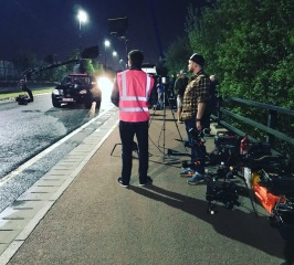 Curfew, Sky One, Drama filming, Drone, Drone Crew, Drone team, alta 8, alexa mini, manchester, drone filming, aerial cinematography, heavy lift, octocopter, multi rotor, movi pro, freefly systems, congested area, countryside, chase sequence, lighting, night shoot, Flying camera company, Manchester, Russian arm