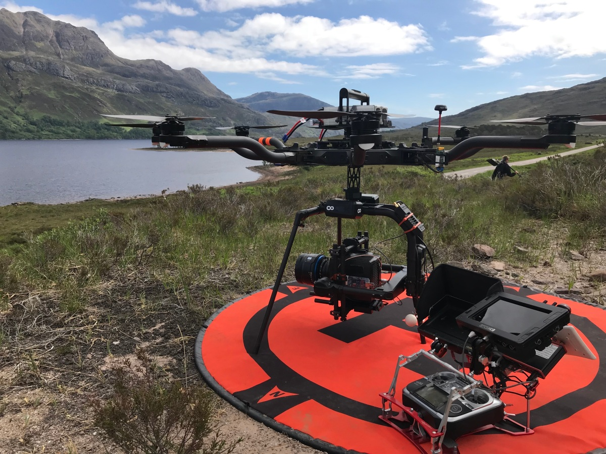 Curfew, Sky One, Drama filming, Drone, Drone Crew, Drone team, alta 8, alexa mini, manchester, drone filming, aerial cinematography, heavy lift, octocopter, multi rotor, movi pro, freefly systems, congested area, countryside, chase sequence, lighting, night shoot, Flying camera company, highlands, scotland, top speed